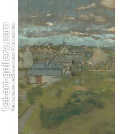 Les Toits by Edouard  (Jean-Edouard) Vuillard - Reproduction Oil Painting