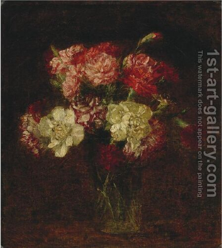 Oeillets 4 by Ignace Henri Jean Fantin-Latour - Reproduction Oil Painting