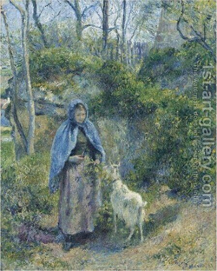 La Gardeuse De Chevre by Camille Pissarro - Reproduction Oil Painting