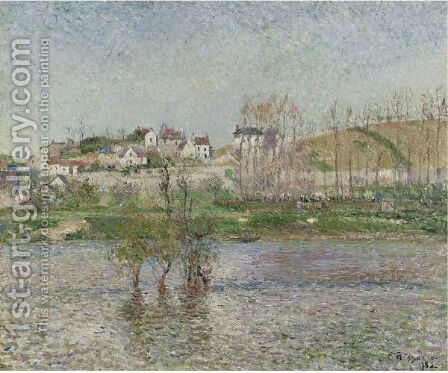 Inondation A Pontoise by Camille Pissarro - Reproduction Oil Painting
