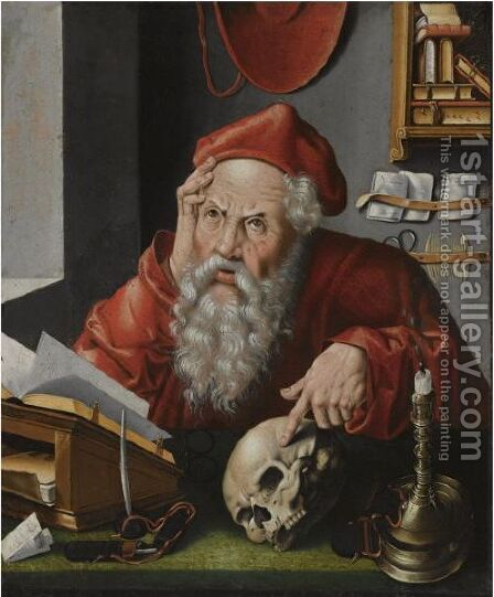 Saint Jerome In His Study 6 by (after) Cleve, Joos van - Reproduction Oil Painting