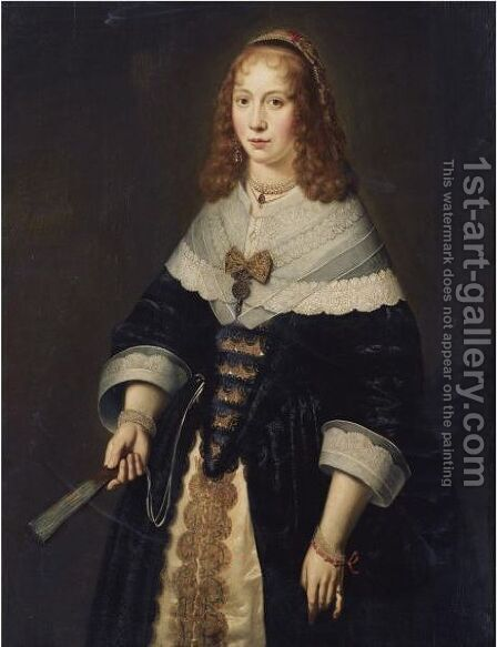 Portrait Of A Lady 3 by Dutch School - Reproduction Oil Painting