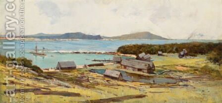 Terrigal by Albert Henry Fullwood - Reproduction Oil Painting