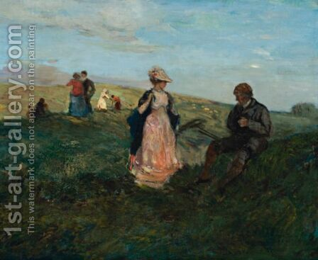 Landscape With Figures by Charles Edward Conder - Reproduction Oil Painting