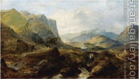 Highland Landscape by Horatio McCulloch - Reproduction Oil Painting