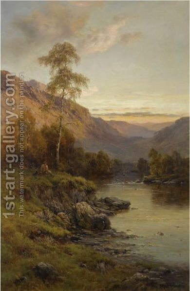 The River Tay by Alfred de Breanski - Reproduction Oil Painting