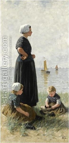 Watching The Ships Return by David Adolf Constant Artz - Reproduction Oil Painting