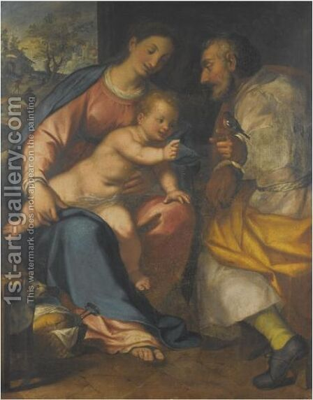 The Holy Family by Giovanni Battista Paggi - Reproduction Oil Painting