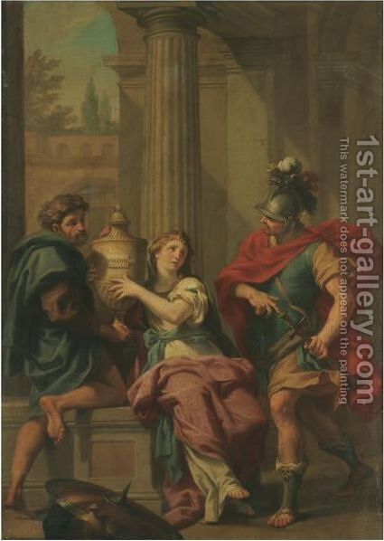 Electra And Orestes by Jacopo Alessandro Calvi (Il Sordino) - Reproduction Oil Painting