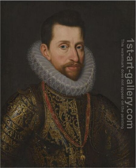 Portrait Of Archduke Alberto Of Austria (1559-1621), Ruler Of Flanders by (after) Juan Pantoja De La Cruz - Reproduction Oil Painting