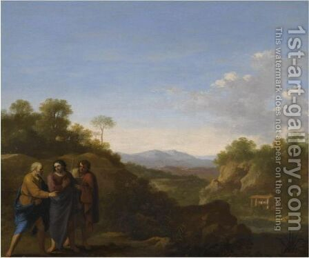 The Calling Of Andrew And Peter by Cornelis Van Poelenburgh - Reproduction Oil Painting