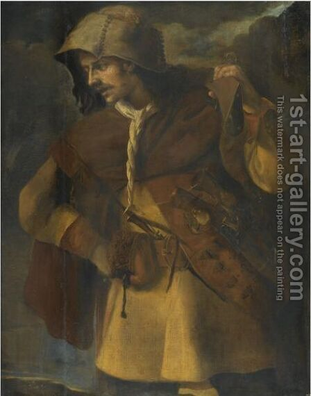 A Brigand by Italian School - Reproduction Oil Painting