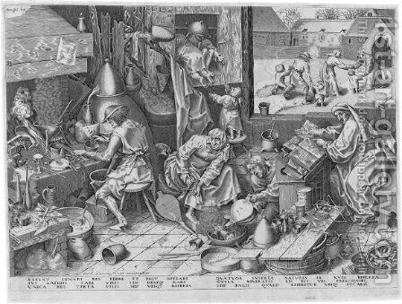 The Alchemist by (after) Pieter The Elder Bruegel - Reproduction Oil Painting