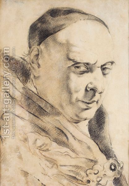 Head Of A Man by (after) Giovanni Battista Piazzetta - Reproduction Oil Painting