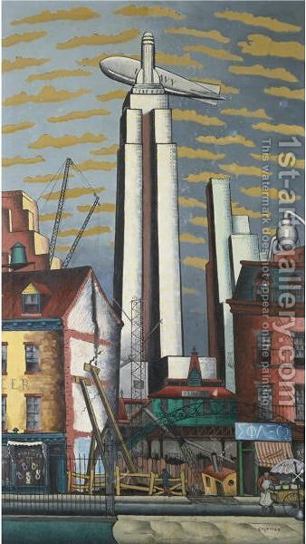 The Empire State Building by Glenn O Coleman - Reproduction Oil Painting
