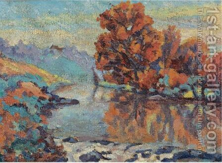 La Creuse 2 by Armand Guillaumin - Reproduction Oil Painting