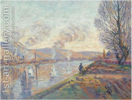 La Seine En Amont De Rouen by Armand Guillaumin - Reproduction Oil Painting