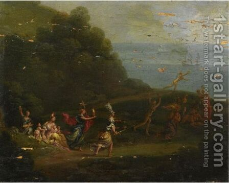 Allegory With Faith, Charity And Justice by (after) Domenico Piola - Reproduction Oil Painting