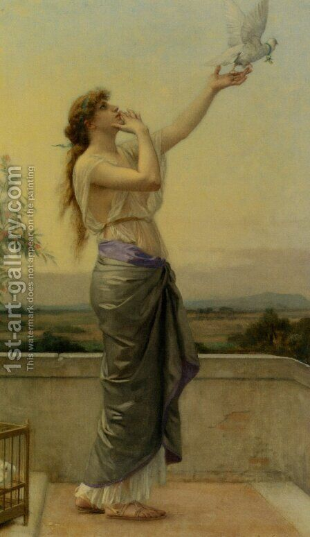 Love's Messenger by Alexandre Cabanel - Reproduction Oil Painting