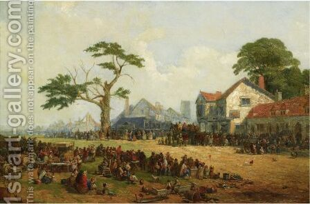 Hinckley Fair by James Holland - Reproduction Oil Painting
