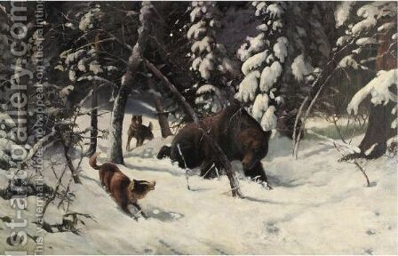The Hunt by Illarion Mikhailovich Prianishnikov - Reproduction Oil Painting
