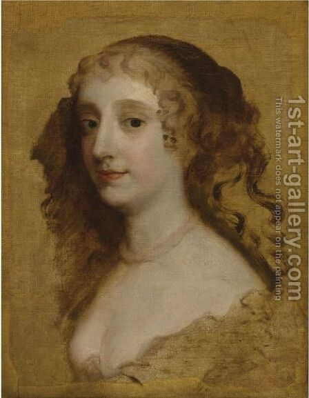 Portrait Of A Lady, Said To Be Lady Anne Hyde, Duchess Of York (1637-1671) by (after) Sir Peter Lely - Reproduction Oil Painting