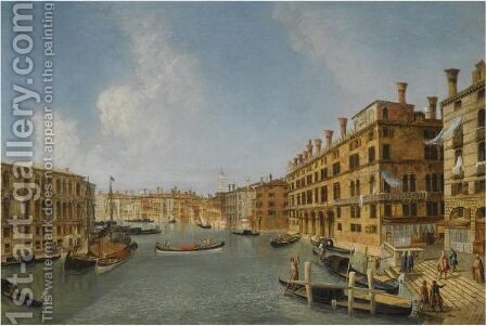 View Of The Grand Canal, Venice, With The Fondaco Dei Tedeschi by Jacob More - Reproduction Oil Painting