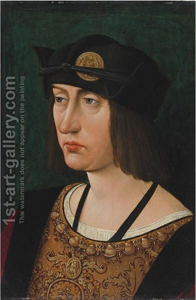 Portrait Of Louis XII, King Of France by (after) Jean Perreal - Reproduction Oil Painting