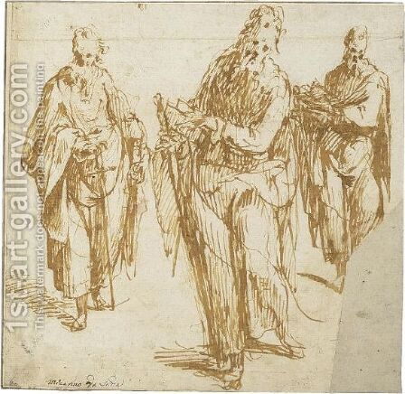 Three Studies Of Saint Paul by Carlo Urbino - Reproduction Oil Painting