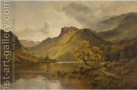 The Gwynant Valley, North Wales by Alfred de Breanski - Reproduction Oil Painting