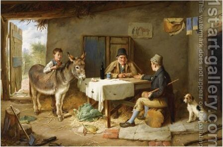 The Sale Of A Donkey by Charles Hunt - Reproduction Oil Painting