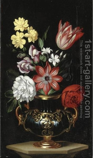 Natura Morta Con Vaso Di Fiori by Carlo Antonio Procaccini - Reproduction Oil Painting