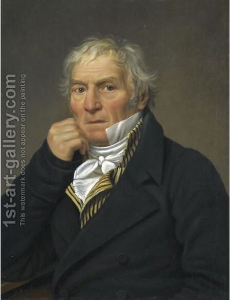 Portrait Of A Man, Identified As Lorenzo Carlo Cantoni, Bust-Length, Circa 1820 by (after) David, Jacques Louis - Reproduction Oil Painting