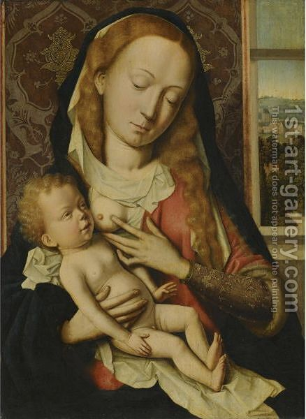 The Virgin And Child 5 by (after) Rogier Van Der Weyden - Reproduction Oil Painting