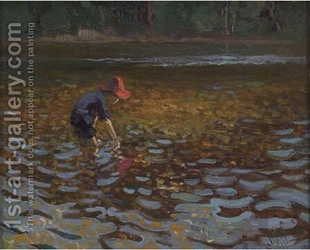 T.M. In Gull River by James Edward Hervey MacDonald - Reproduction Oil Painting