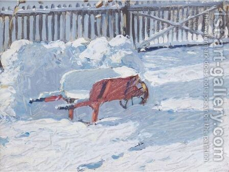 The Snow Fort by James Edward Hervey MacDonald - Reproduction Oil Painting