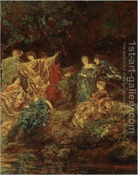 Festivite - Le Symposium by Adolphe Joseph Thomas Monticelli - Reproduction Oil Painting