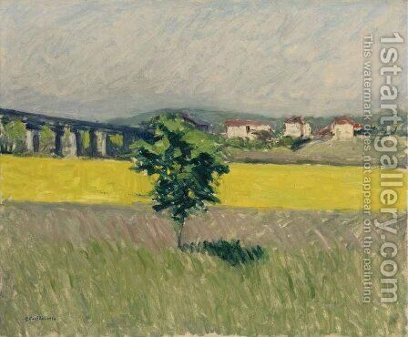 Prairie Au Pont D'Argenteuil by Gustave Caillebotte - Reproduction Oil Painting