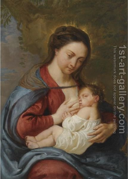 Madonna And Child 2 by (after) Sir Peter Paul Rubens - Reproduction Oil Painting