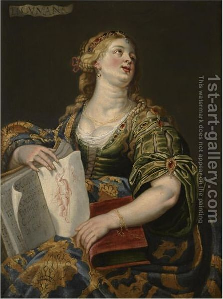 The Cumaean Sibyl by (after) Abraham Janssens Van Nuyssen I - Reproduction Oil Painting