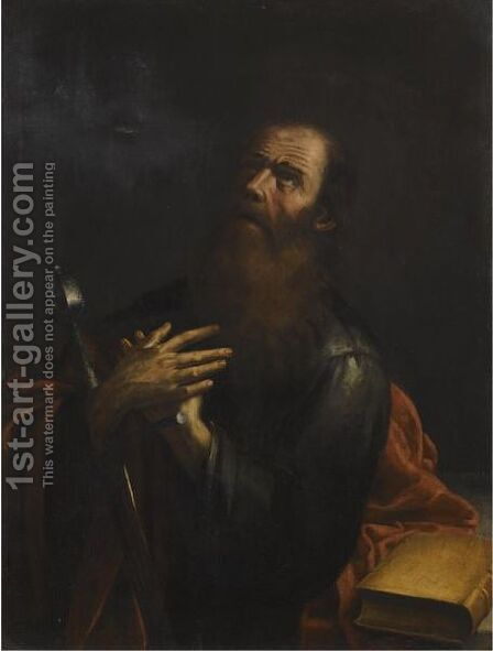 Saint Paul by (after) Nicolas Tournier - Reproduction Oil Painting