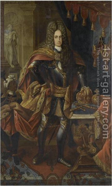 Portrait Of The Emperor Charles VI by Jakob Michel - Reproduction Oil Painting
