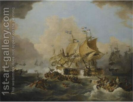 The Battle Off Ushant, Lord Howe's Victory On The 1st June 1794 by (after) Loutherbourg, Philippe de - Reproduction Oil Painting