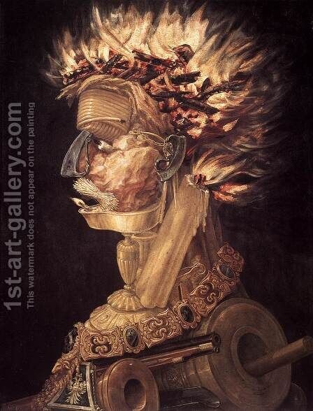 The Fire 1566 by Giuseppe Arcimboldo - Reproduction Oil Painting