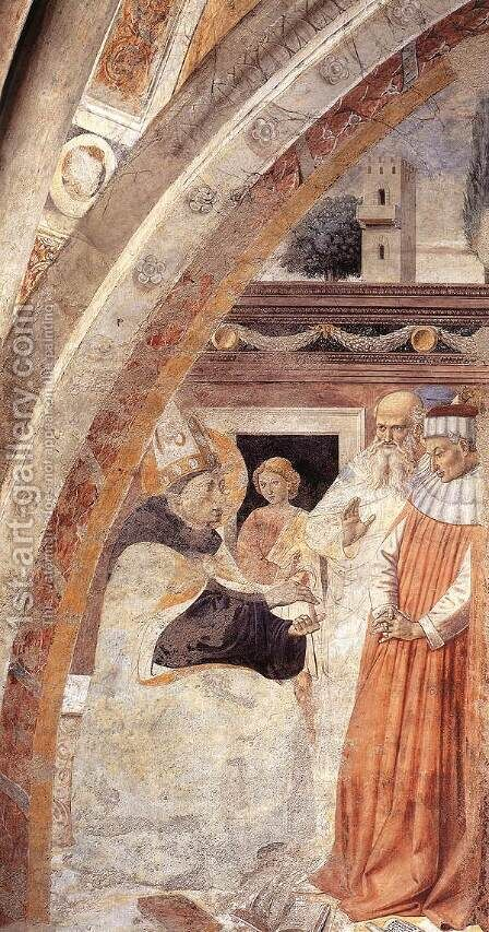 Conversion Of The Heretic (scene 15 East Wall) by Benozzo di Lese di Sandro Gozzoli - Reproduction Oil Painting