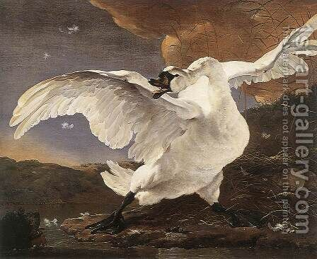 The Threatened Swan before 1652 by Jan Asselyn - Reproduction Oil Painting