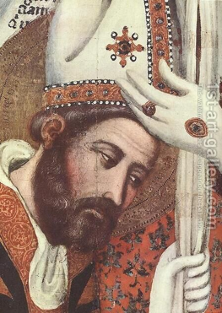 The Consecration Of St Marcus (detail) 1350 by Arnau Bassa - Reproduction Oil Painting