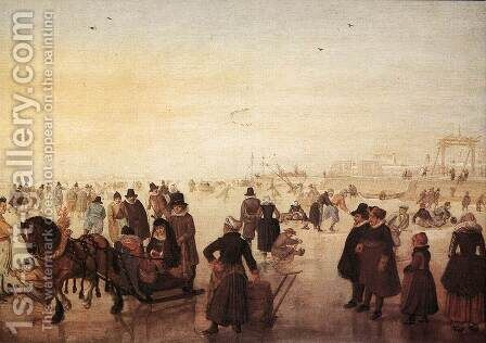 Ice Scene by Hendrick Avercamp - Reproduction Oil Painting