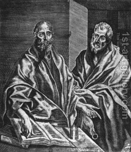Sts Peter And Paul 1608 by Diego De Astor - Reproduction Oil Painting