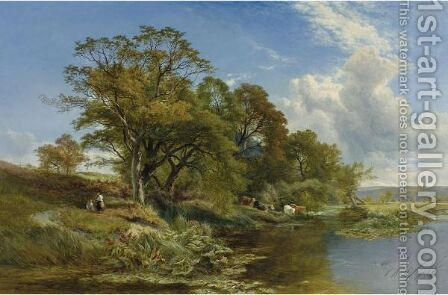 A Weedy Branch Of The Thames by Henry John Boddington - Reproduction Oil Painting